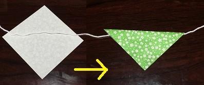 折り紙 ガーランド 作り方