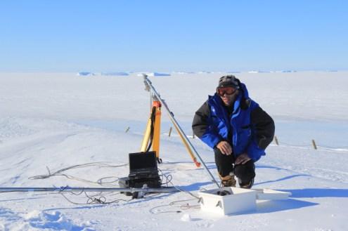 Laurent prépare le spectro-albédomètre