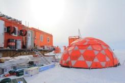 Test de la tente prévue pour les forages courts