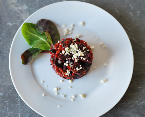 Roasted Beet & Farro Risotto