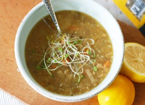 Lemon Ginger Lentil Soup