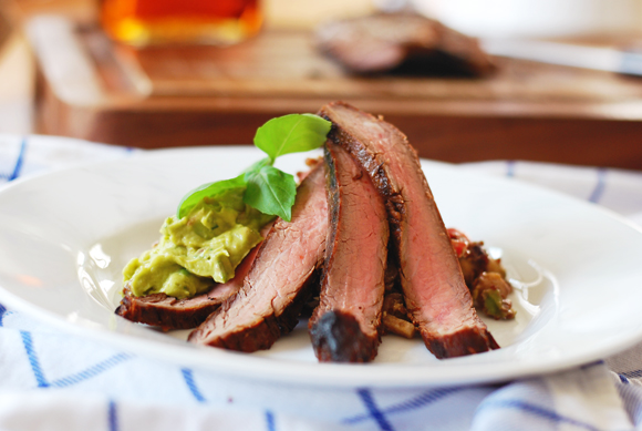 Maple Bourbon Flank Steak
