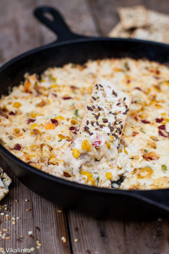Roasted Corn Crab Dip