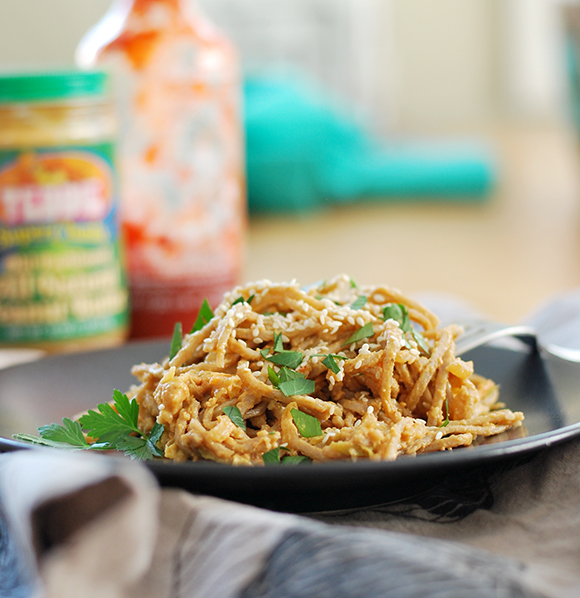 Garlic Peanut Soba Noodles | A Sunshiny Day