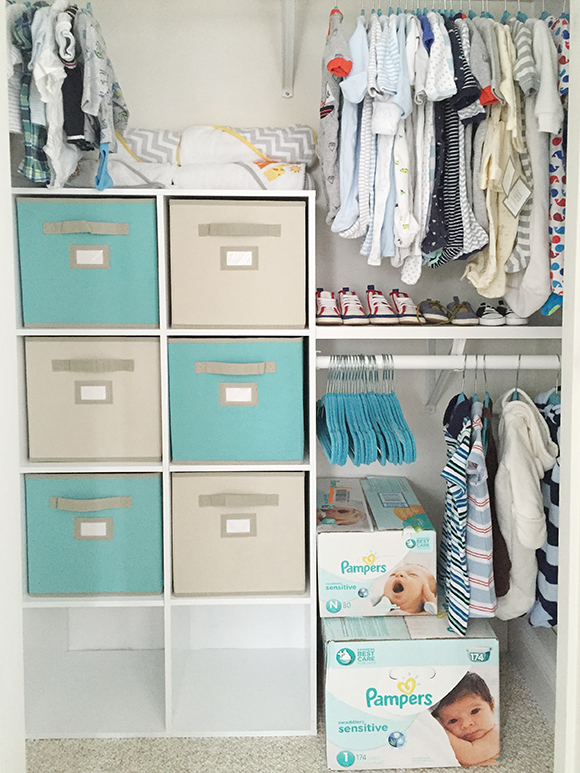 Twin Boys Nursery Closet