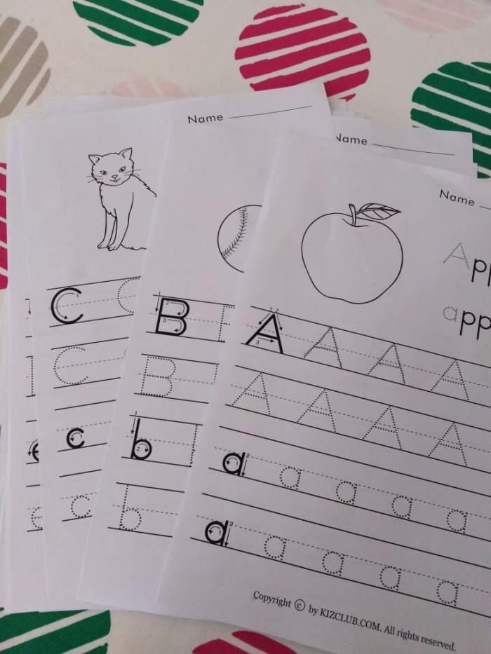 ABC worksheets for preschoolers! ASUPERTIREDMOM