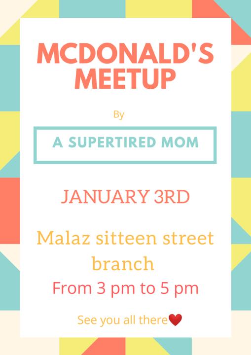 A SUPERTIRED MOM-RIYADH MC DONALD'S MEETUP JANUARY 3rd 2019