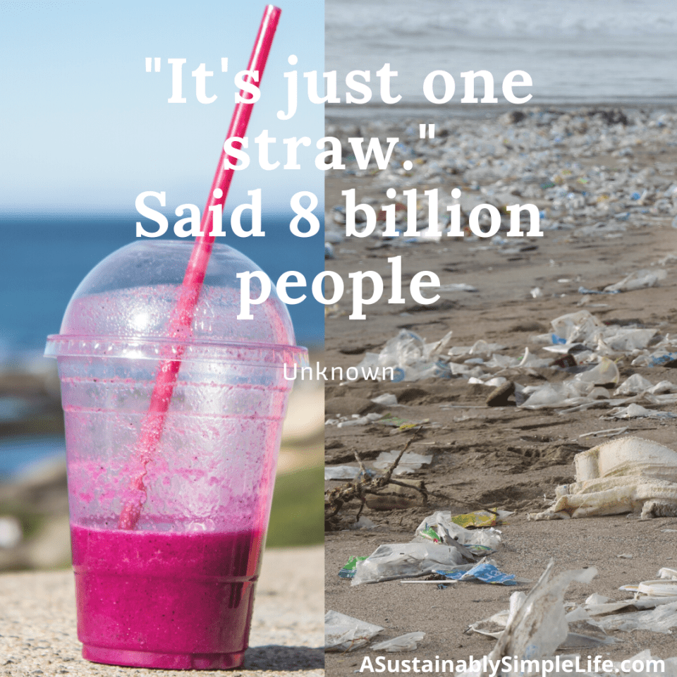 Straw quote for Plastic Free July