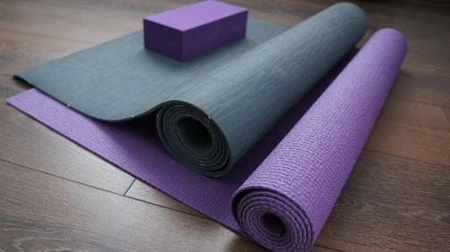 Yoga mats and block