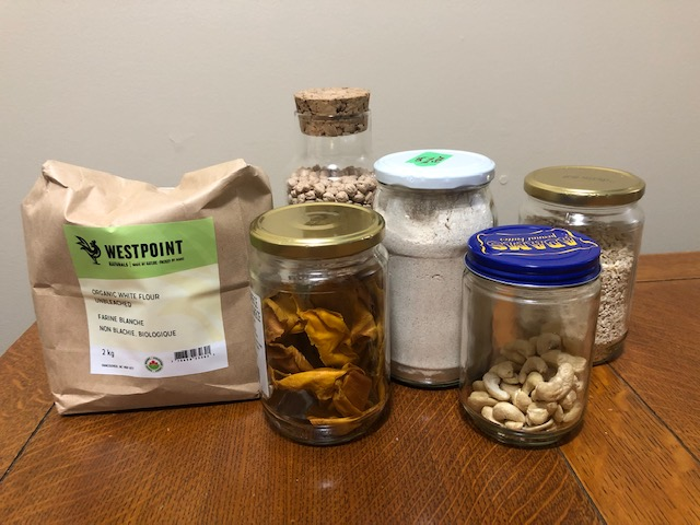 Fulfill Shoppe pantry items in reusable glass jars