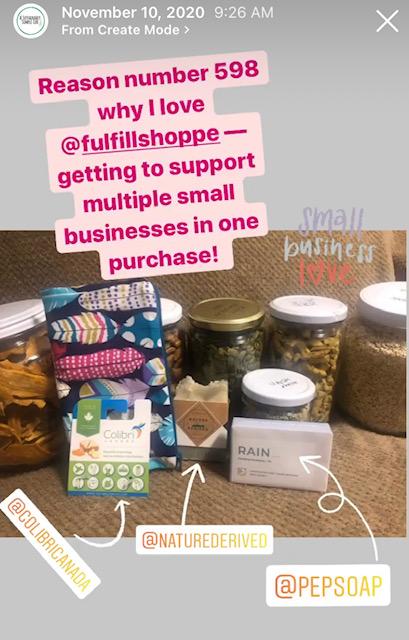 Fulfill Shoppe Instagram Story