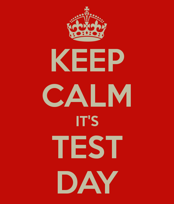 Image result for test day