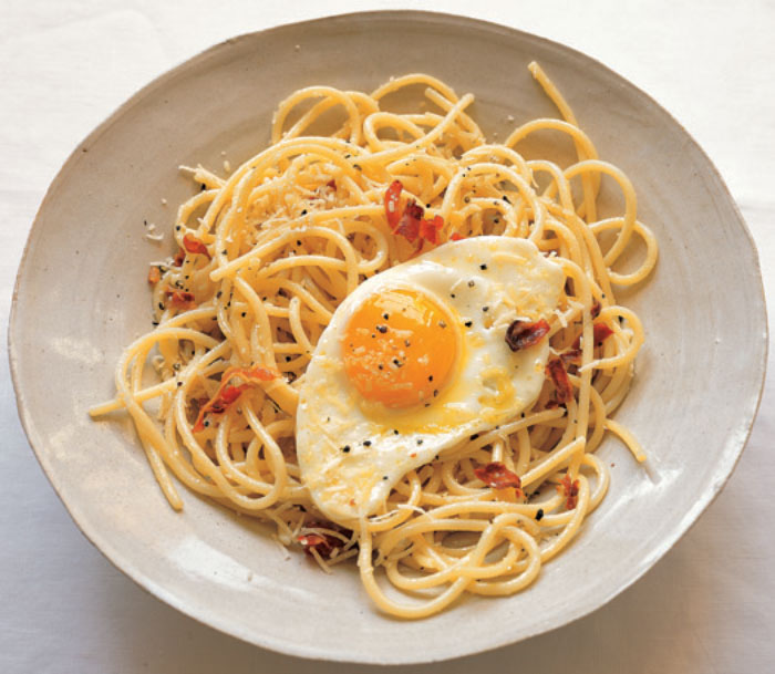 Spaghetti-with-herbs-chilies-and-eggs