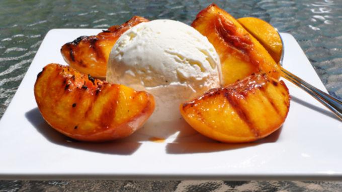 grilled peaches ice cream