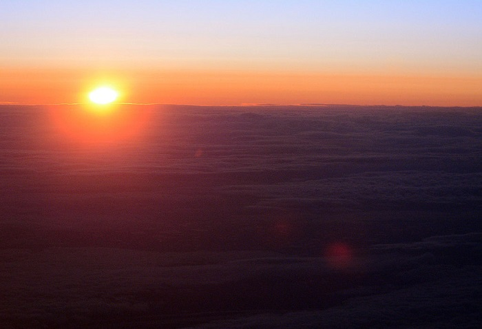 sunrise at north pole