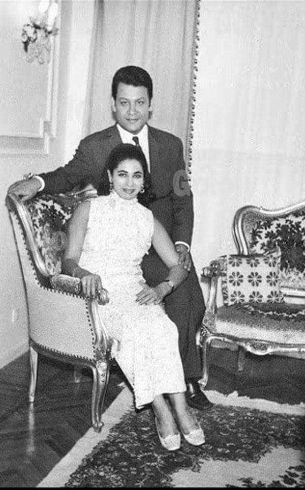 محمد رشدي وزوجته