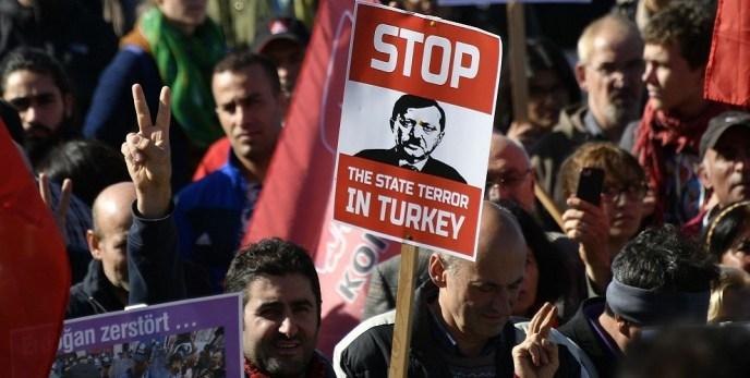 مظاهرات مناهضة لأردوغان