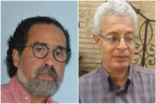 الشاعر عبد المنعم رمضان والشاعر والناقد المغربي صلاح بو سريف