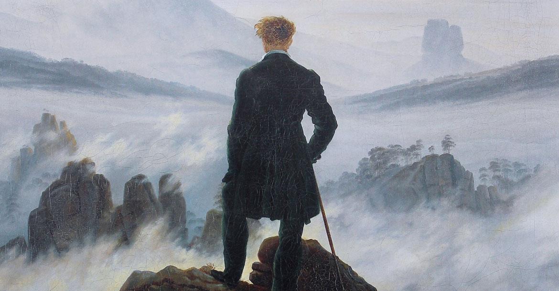 متجول فوق بحر من الضباب لكاسبر ديفيد فريدريك