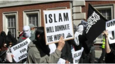 مظاهرات تطالب بحكم الإسلام في بريطانيا