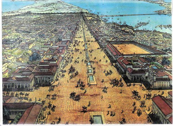 صورة تخيلية للإسكندرية قديمًا