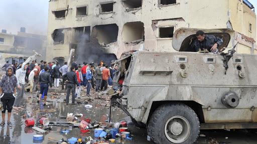 إحدى التفجيرات الإرهابية في شمال سيناء