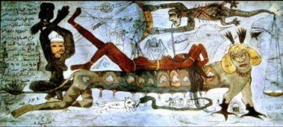 لوحة عاشق من الجن -عبدالهادي الجزار