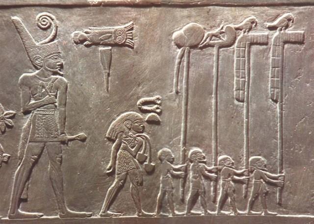 جدارية للملك مينا