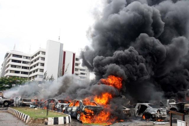 إحدى التفجيرات التي قام بها بوكو حرام في نيجيريا
