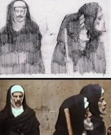 رسم شادي عبد السلام لفيلم المومياء