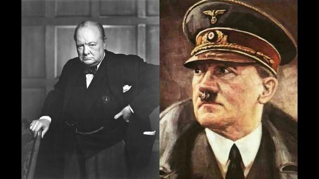 هتلر وتشرشل