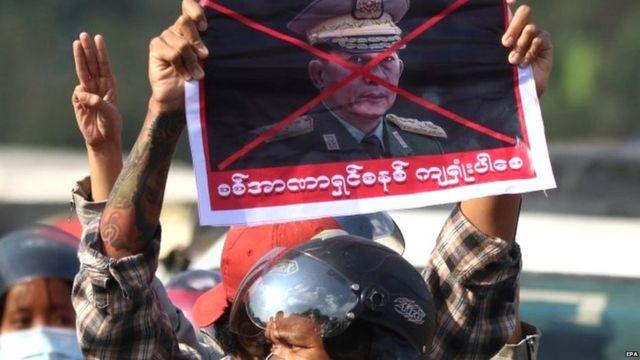 احتجاجات مناهضة للحجم العسكري في ميانمار