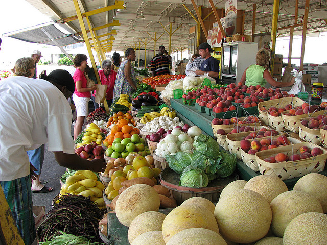 Eat and shop locally