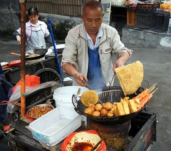 Street vendors in china