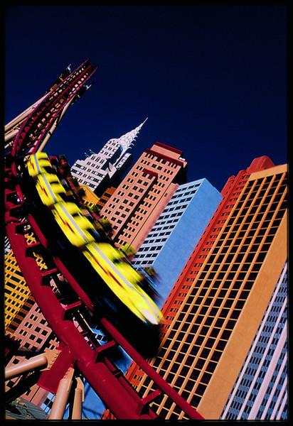 double-corkscrew roller coaster - The Canyon Blaster