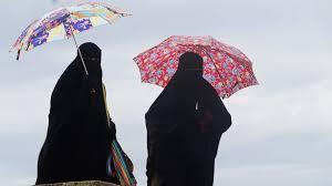 Muslim women who do believe in global warming.