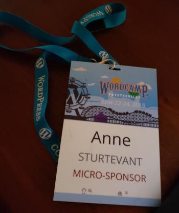 WordCamp 2018 Fayetteville AR Badge