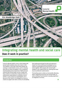 Integrating MH and social care