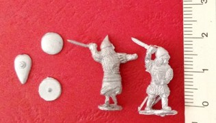 Byzantium - Varangian guards with sword