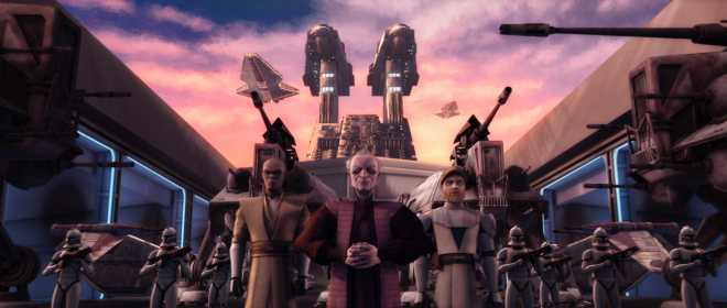 While it seems heretical to question the Jedi about the Force, we must remember that the events of the Clone Wars reveal their fallibility, as they even lead an army of slaves side by side with a Sith Lord. © Lucasfilm Ltd.