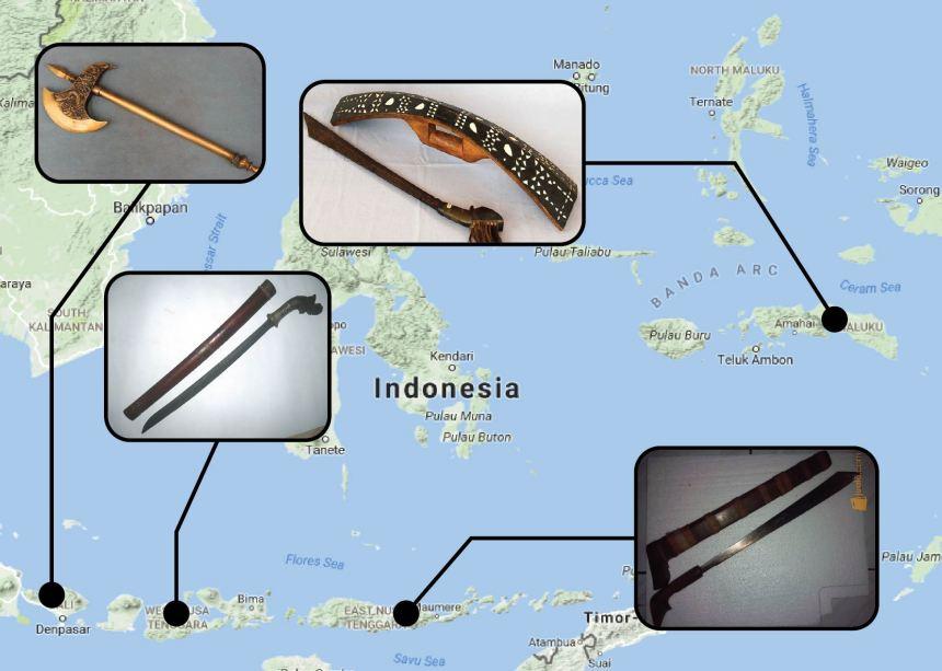 Senjata Tradisional Bali Nusa Tenggara dan Maluku