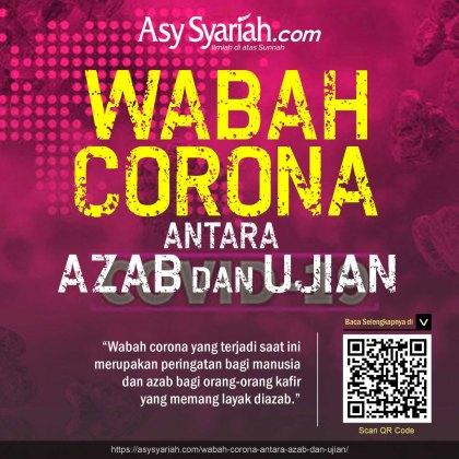 wabah virus corona antara azab dan ujian