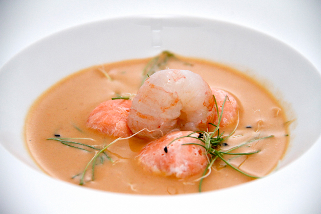 Soup For TwoLangoustine Bisque With Scandinavian Salmon