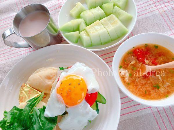 滋賀から北海道家族旅行キャンプ朝食