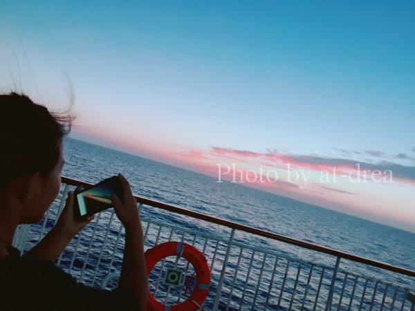 新日本海フェリー あざれあ 夕暮れ