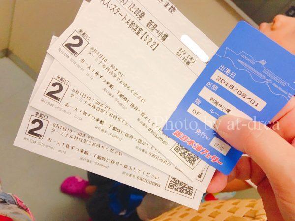 新日本海フェリー あざれあ 北海道家族旅行