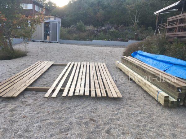 外構ウッドフェンス 作り方