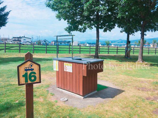 上富良野 日の出公園オートキャンプ場 サイト