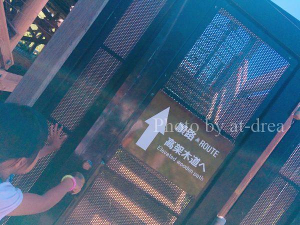知床五湖 高架木道入口