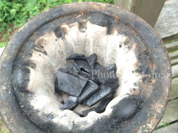 七輪 炭の量
